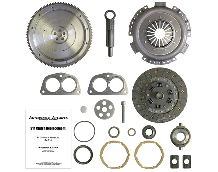 19 PIECE CLUTCH PACKAGE KIT (NEW FLYWHEEL, RESURFACED PLATE AND DIS/DISKC); SAVE $88.24