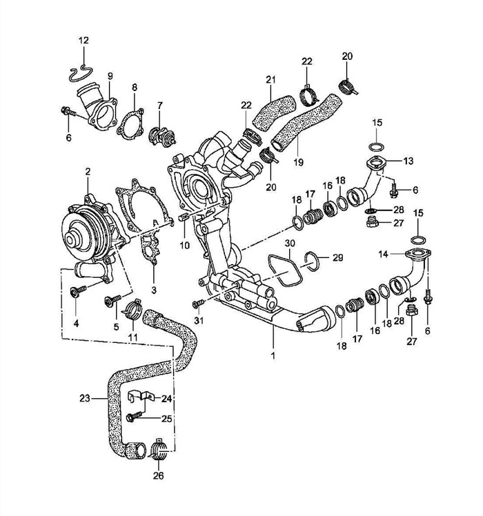 porsche 996 intake diagram
